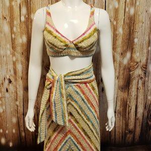 {vintage} Festival knit bralette & maxi skirt